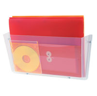 Deflecto A4 Non-Breakable Wall File Pocket - DE632YTCRY