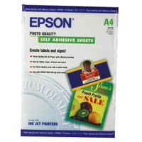 Epson Photo Quality White A4 Self Adhesive Paper 167gsm, 10 Sheets - C13S041106