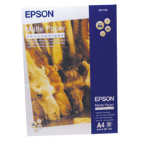 View more details about Epson Heavyweight White A4 Matte Photo Paper, 167gsm - 50 Sheets - C13S041256