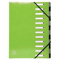 Iderama 12 Part File, Lime Green - 53923E