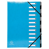 Iderama 12 Part File, Light Blue - 53927E