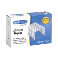 Rapesco No.26 Metal Staples 26/6mm, Pack of 5000 - S11662Z3