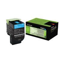 Lexmark 702C Cyan Toner Cartridge - 70C20C0