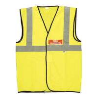 X-Large Yellow High Visibility Fire Warden Vest - IVGFVW