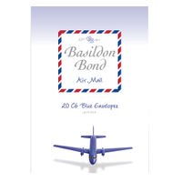 Basildon Bond Blue C6 Airmail Envelope 114 x 162mm, (10 Packs x 20) - JD90429