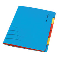 View more details about Jalema A4 Secolor Sixtab Organiser - Pack of 5 - 8331600-10791