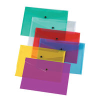 Q-Connect A4 Assorted Polypropylene Folders, Pack of 12 – KF03599