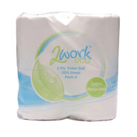 2Work White 2Ply Toilet Rolls, Pack of 36 - T22006