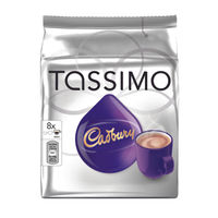 Tassimo 240g Cadbury Hot Chocolate Capsules, Pack of 40 - 131270