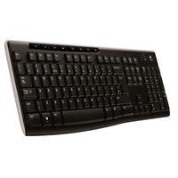 Logitech Black Wireless Keyboard K270 with USB Unifying Receiver - 920-003745