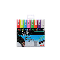 Uni Medium Assorted Liquid Chalk Markers, Pack of 8 - 153494341