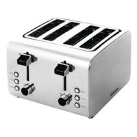 View more details about Igenix Toaster 4-Slice (Stainless steel finish with varying heat settings) FCL4001/H