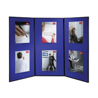 View more details about Nobo Lightweight Showboard, 3 Panel, Blue/Grey - 1901710
