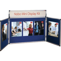 View more details about Nobo Blue Mini Desktop Display Kit - 35231470