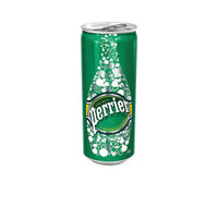 Perrier Sparkling Water 330ml Cans, Pack of 24 - NL10304
