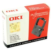 Oki Microline Black Fabric Ribbon - 09002303
