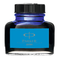Parker Blue 2oz Quink Permanent Ink Bottle - 1950376