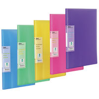 Pentel Recycology Assorted A4 Display Book, 30 Pockets, Pack of 5 - DCF343/MIX
