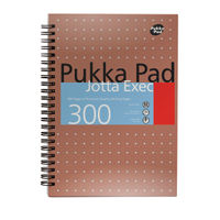 View more details about Pukka Pad A4 Jotta Executive Wirebound Notepad - Pack of 3 - 7019-MET