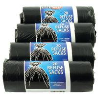 Safewrap Black Refuse Sack Rolls, Pack of 4 - 446