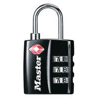 View more details about Master Lock 32mm TSA Combination Padlock Black 40054