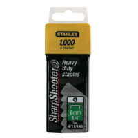 Stanley SharpShooter 8mm 5/16in Type G Staples, Pack of 1000 - 1-TRA70