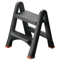 View more details about Folding Plastic Step Stool Black 333650
