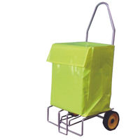 Folding Mail Trolley with High Visibility PVC Bag, 100kg Capacity - 383472