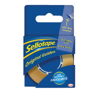 Sellotape Original Golden Tape,18mm x 10m - Pack of 8 - 1443169