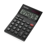 Sharp EL310AN Semi Desktop Calculator, 8 Digit Display - EL310ANWH