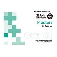 St John Ambulance Assorted Fabric Plasters, Pack of 100 - F94026