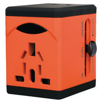 Swordfish VariPlug Orange USB Universal Travel Adaptor - 40253