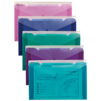 Snopake Assorted A4 Polyfile Trio, Pack of 5 - 14967