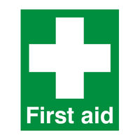 View more details about First Aid (100 x 250mm) Safety Sign - FA00607R