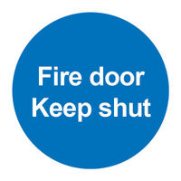 View more details about Fire Door Keep Shut 100 x 100mm PVC Safety Sign - FR07002R