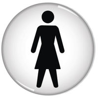 Domed 60mm Women Symbol Sign - RDS1