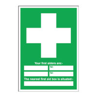 View more details about Safety Sign First Aid (600 x 450mm) - E91A/R