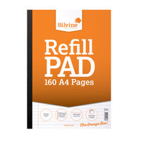 Silvine A4 Sidebound Refill Pads - Pack of 6 - A4SRPFM