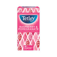 Tetley Raspberry and Pomegranate Tea Bags, Pack of 25 - NWT203