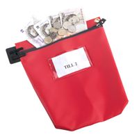 Go Secure Red Security Cash Bag - CB1R