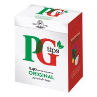 PG Tips One Cup Pyramid Tea Bags, Pack of 240 - 22322301