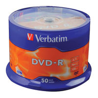 Verbatim DVD-R 16x 4.7GB Matt Silver Surface Discs, Pack of 50 - 43548