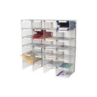 View more details about Go Secure Grey 24 Compartment Mail Sorter - MSU24_GYS