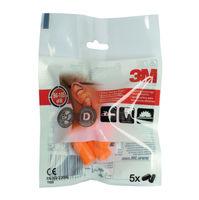3M Disposable Earplugs Uncorded Orange, Pack of 5 - XA004837911