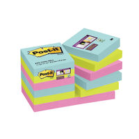 Super Sticky Miami 47.6x47.6mm Post-it Notes - 622-12SS-MIA