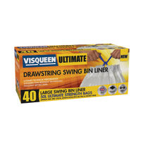 Visqueen Drawstring Ultimate Swing Bin Liners, Pack of 40 - RS057768