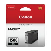 View more details about Canon PGI-1500BK Black Ink Cartridge - 9218B001