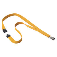 Durable Ochre 15mm Textile Lanyards with Snap Hook, Pack of 10 - 812735