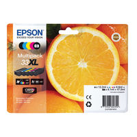 Epson 33XL Black and Colour Ink Multipack - High Capacity C13T35964010