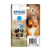 View more details about Epson 378XL Cyan Ink Cartridge - High Capacity C13T37924010